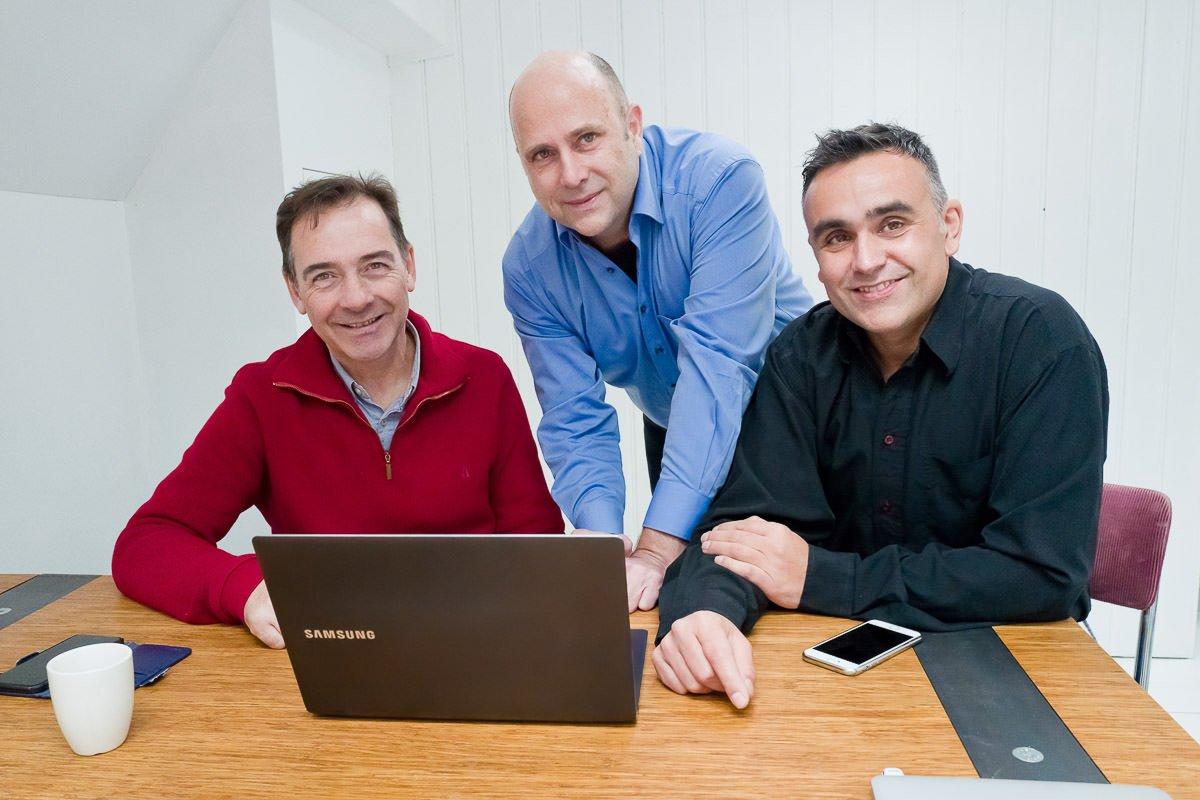 De drie leden van het M4 team